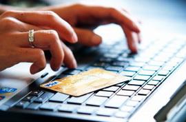 Онлайн оплата электронного авиабилета с помощью банковской карты.